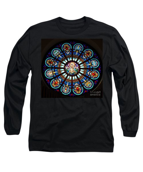 Our Blessed Mother Long Sleeve T-Shirt by Debby Pueschel
