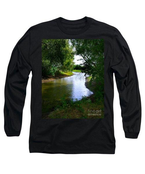 Our Fishing Hole Long Sleeve T-Shirt by Peter Piatt