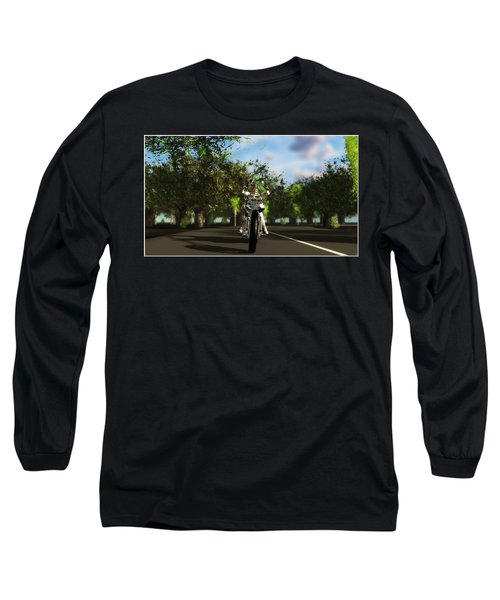 Long Sleeve T-Shirt featuring the digital art Out For A Ride... by Tim Fillingim