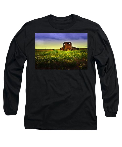 Out To Pasture Long Sleeve T-Shirt by Sonya Lang
