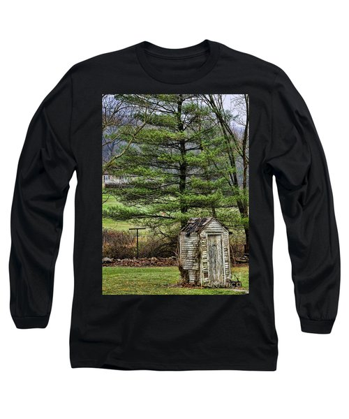 Outhouse In The Backyard Long Sleeve T-Shirt