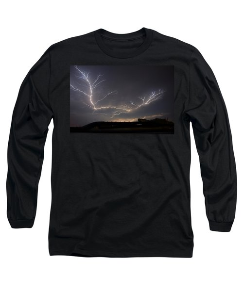 Long Sleeve T-Shirt featuring the photograph Over The Lake by Charlotte Schafer