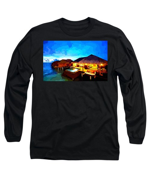 Over Water Bungalows Long Sleeve T-Shirt