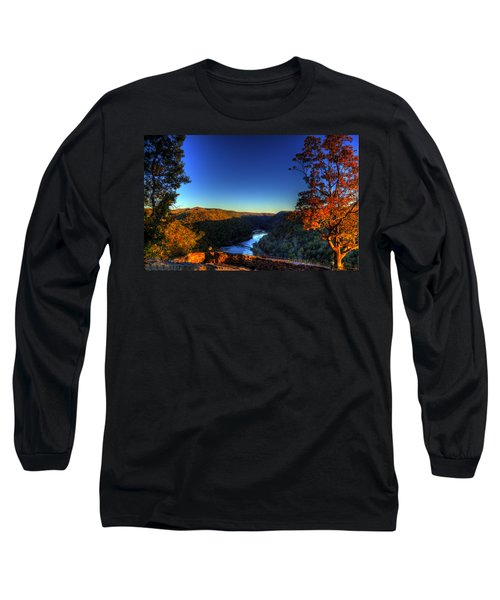 Long Sleeve T-Shirt featuring the photograph Overlook In The Fall by Jonny D