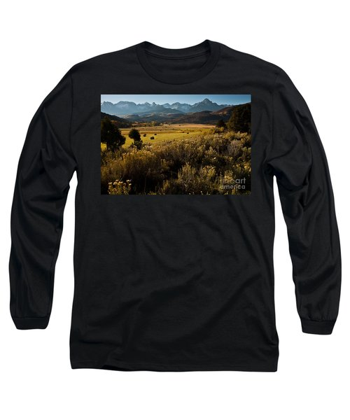 Overlook To Mt. Sneffles Long Sleeve T-Shirt by Steven Reed