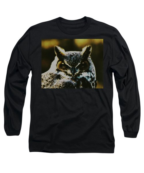 Owl Portrait Long Sleeve T-Shirt