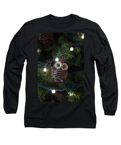 Long Sleeve T-Shirt featuring the photograph Owly Christmas by Patricia Babbitt