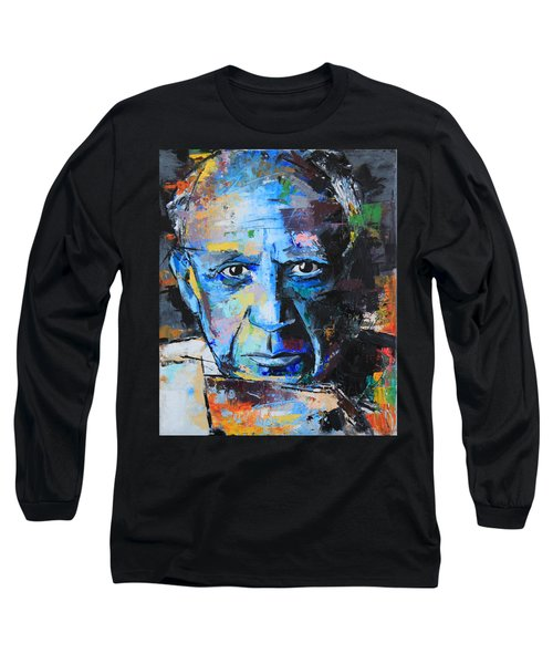 Pablo Picasso Long Sleeve T-Shirt by Richard Day