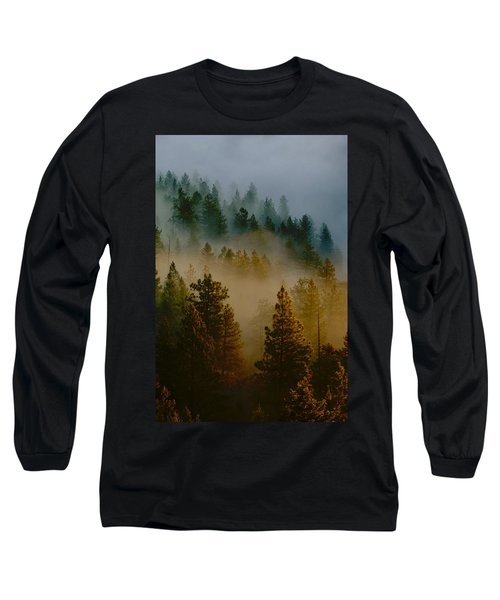 Pacific Northwest Morning Mist Long Sleeve T-Shirt