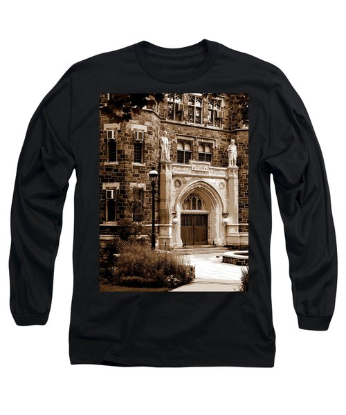 Packard Laboratory Sepia Long Sleeve T-Shirt by Jacqueline M Lewis