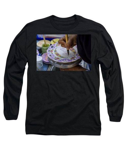 Paint On Plates Long Sleeve T-Shirt