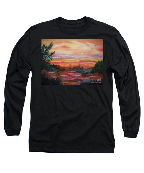 Painted Desert II Long Sleeve T-Shirt by Ellen Levinson