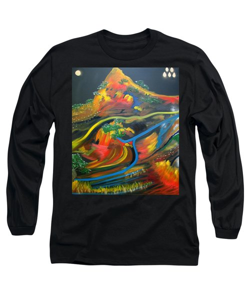 Painted Landscape Long Sleeve T-Shirt