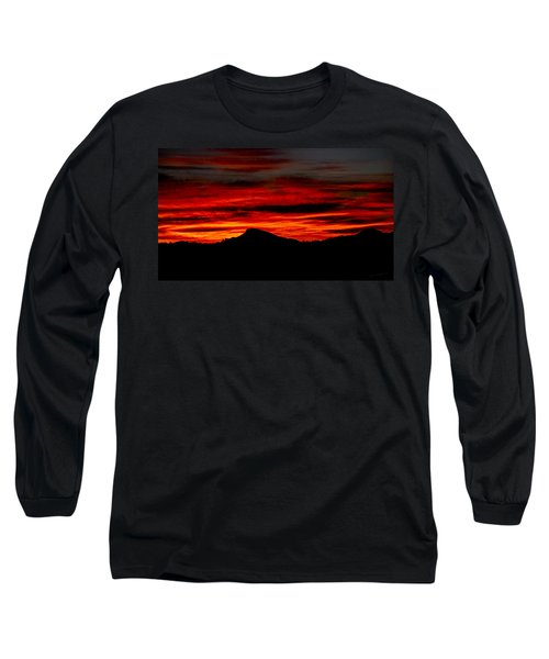 Long Sleeve T-Shirt featuring the photograph Painted Sky 45 by Mark Myhaver