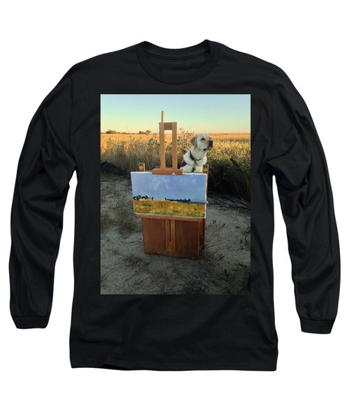 Painterly Lab Long Sleeve T-Shirt by Mary Ward