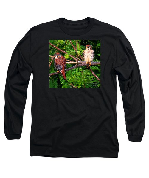 Caribbean Falcons Long Sleeve T-Shirt by The Art of Alice Terrill