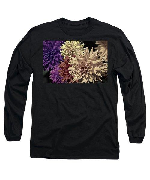 Pale Dahlias Long Sleeve T-Shirt