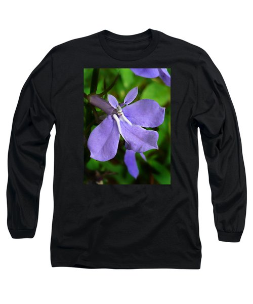 Wild Palespike Lobelia Long Sleeve T-Shirt by William Tanneberger