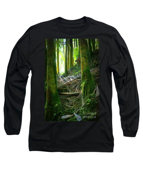 Long Sleeve T-Shirt featuring the photograph Palm Forest by Ellen Cotton