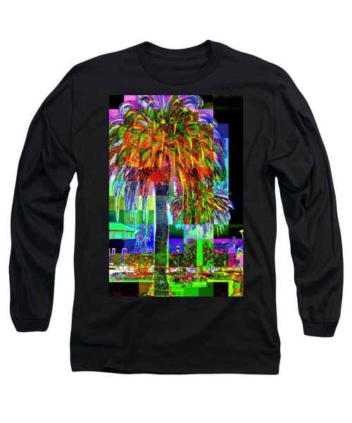 Long Sleeve T-Shirt featuring the photograph Palm Tree by Jodie Marie Anne Richardson Traugott          aka jm-ART