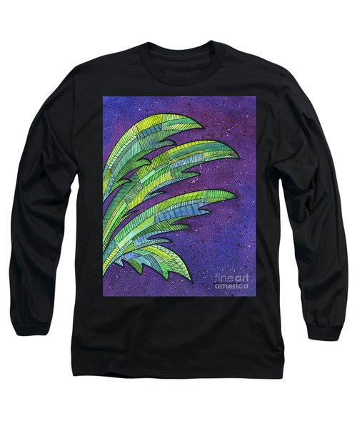 Palms Against The Night Sky Long Sleeve T-Shirt