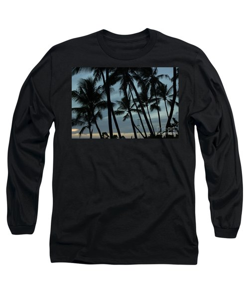 Long Sleeve T-Shirt featuring the photograph Palms At Dusk by Suzanne Luft