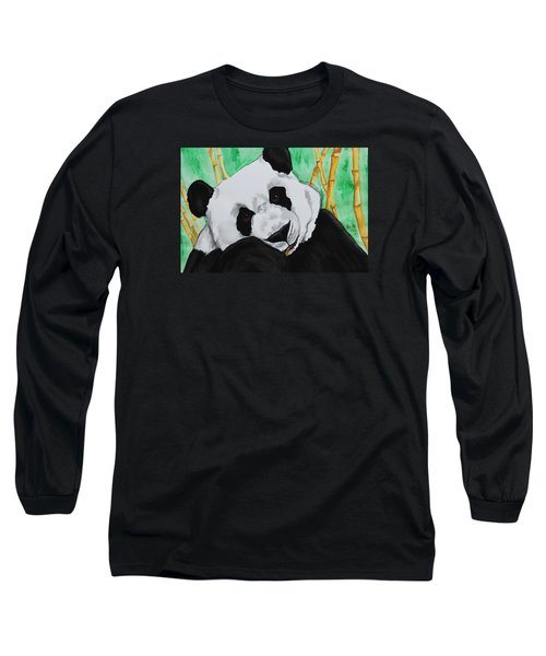 Panda Long Sleeve T-Shirt by Patricia Olson