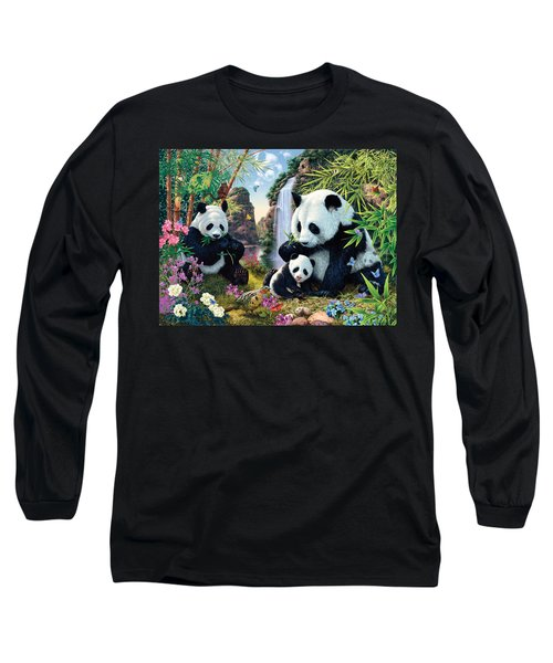 Panda Valley Long Sleeve T-Shirt by Steve Read