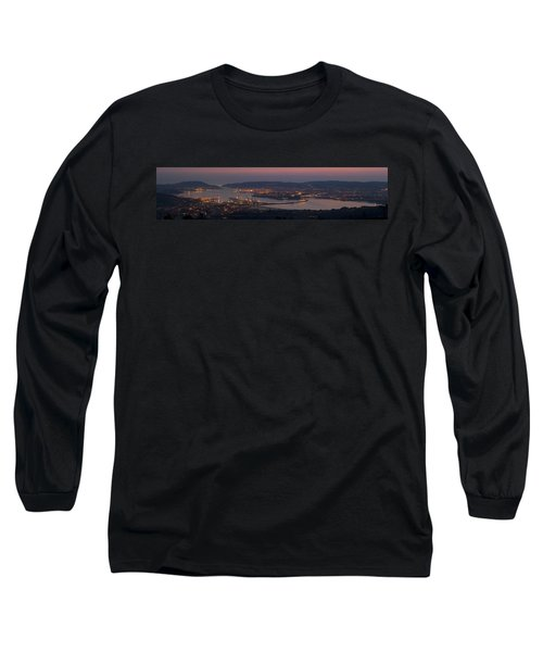 Long Sleeve T-Shirt featuring the photograph Panorama Of Ferrol From Mount Marraxon Galicia Spain by Pablo Avanzini