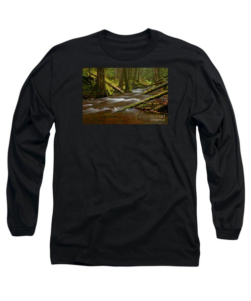 Long Sleeve T-Shirt featuring the photograph Panther Creek Landscape by Nick  Boren