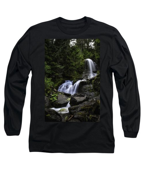 Panther Falls Long Sleeve T-Shirt by James Heckt