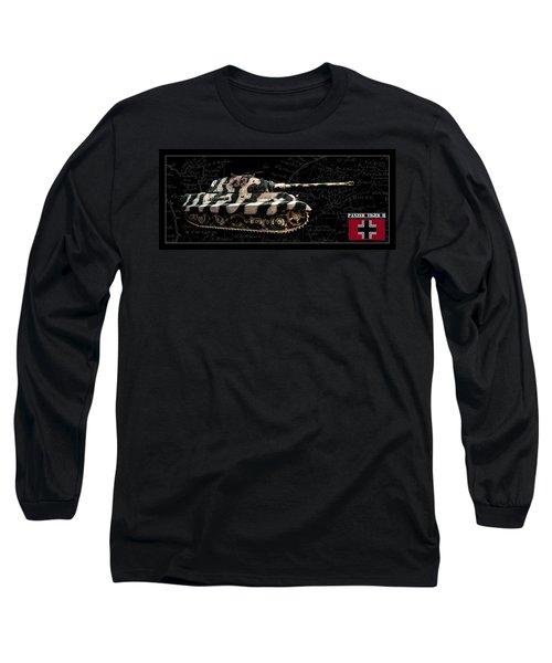 Panzer Tiger II Side Bk Bg Long Sleeve T-Shirt