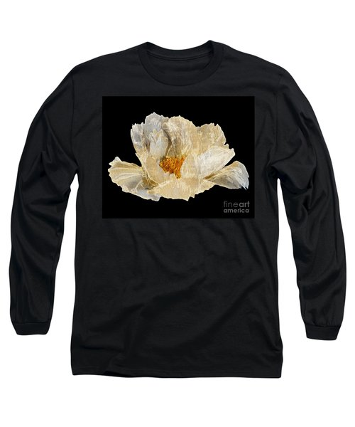Paper Peony Long Sleeve T-Shirt by Diane E Berry