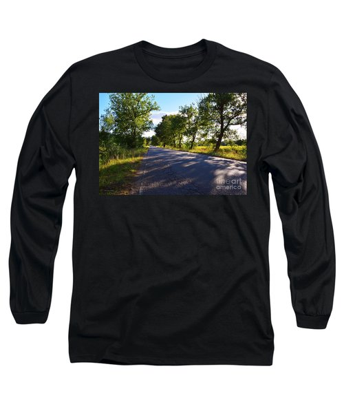 Long Sleeve T-Shirt featuring the photograph Paradise Road by Ramona Matei