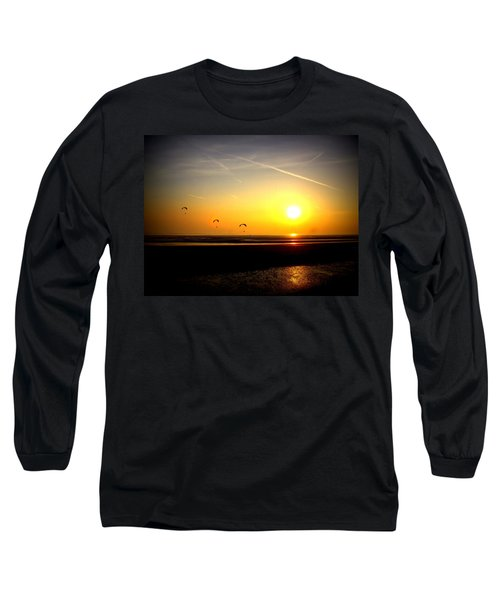 Paragliders At Sunset Long Sleeve T-Shirt