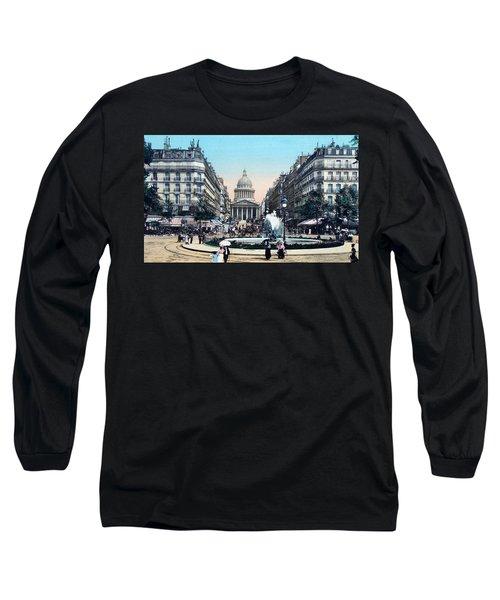Paris 1910 Rue Soufflot And Pantheon Long Sleeve T-Shirt