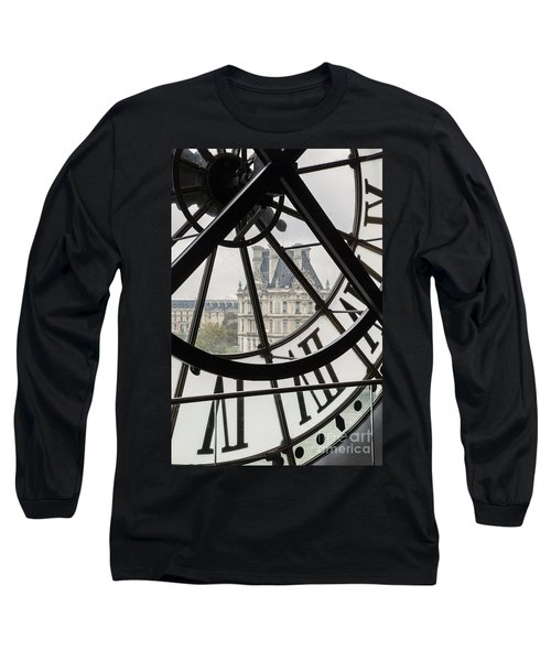 Paris Clock Long Sleeve T-Shirt