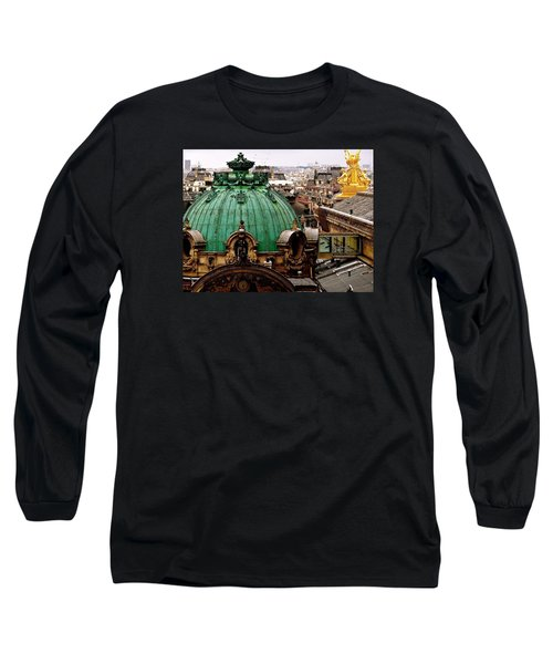 Paris Drizzles Long Sleeve T-Shirt by Ira Shander