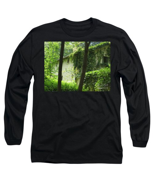 Long Sleeve T-Shirt featuring the photograph Paris - Green House by HEVi FineArt