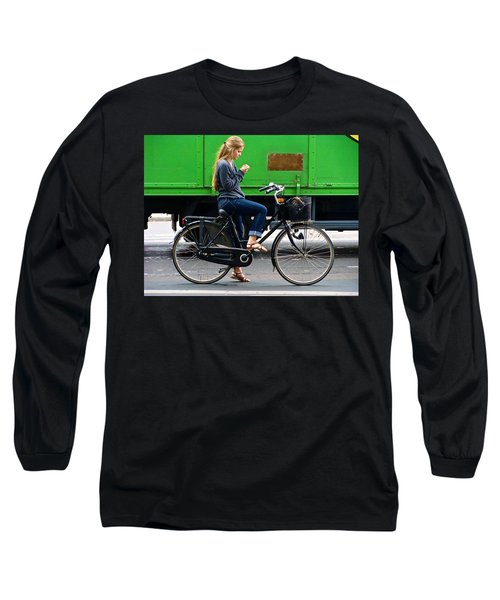 Long Sleeve T-Shirt featuring the photograph Paris Interlude by Ira Shander