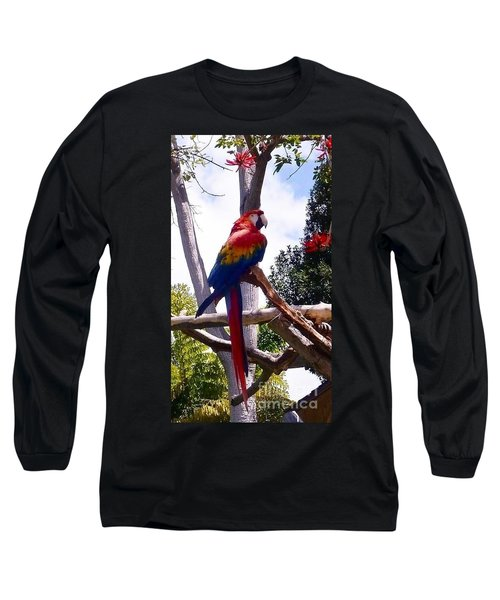 Parrot Long Sleeve T-Shirt by Susan Garren