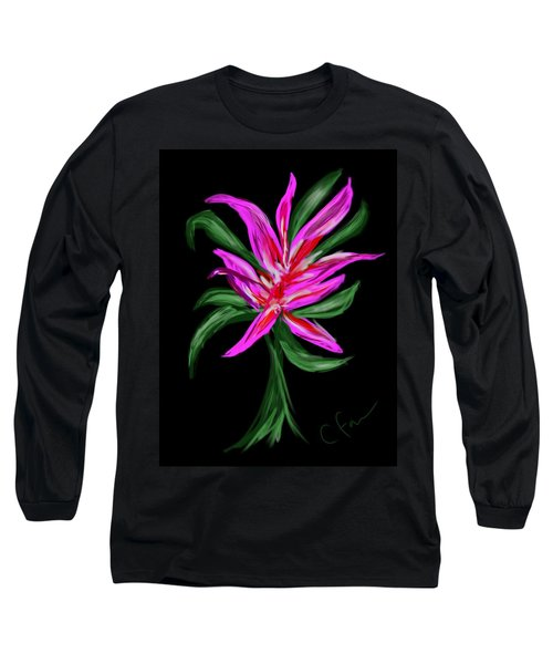 Long Sleeve T-Shirt featuring the digital art Passion Flower by Christine Fournier