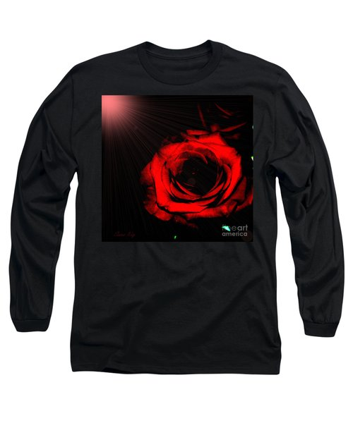 Passion. Red Rose Long Sleeve T-Shirt
