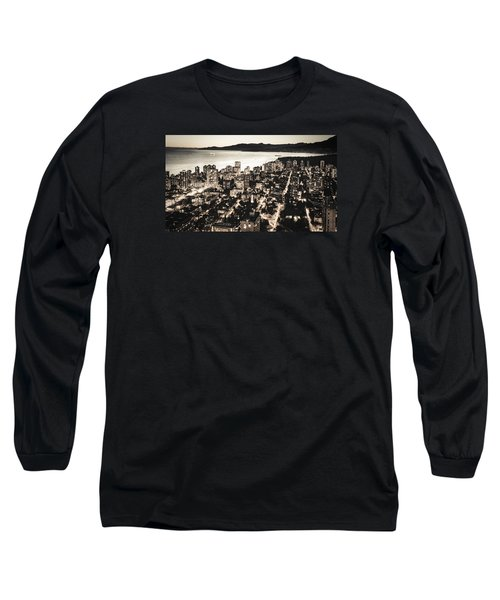 Passionate English Bay Mccclxxviii Long Sleeve T-Shirt by Amyn Nasser