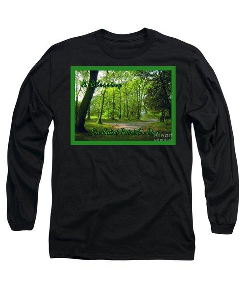 Pathway Saint Patrick's Day Greeting Long Sleeve T-Shirt