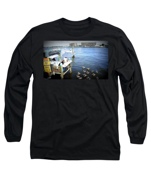 Long Sleeve T-Shirt featuring the photograph Patiently Waiting by Laurie Perry
