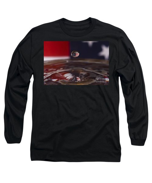 America Long Sleeve T-Shirt by Anthony Sacco
