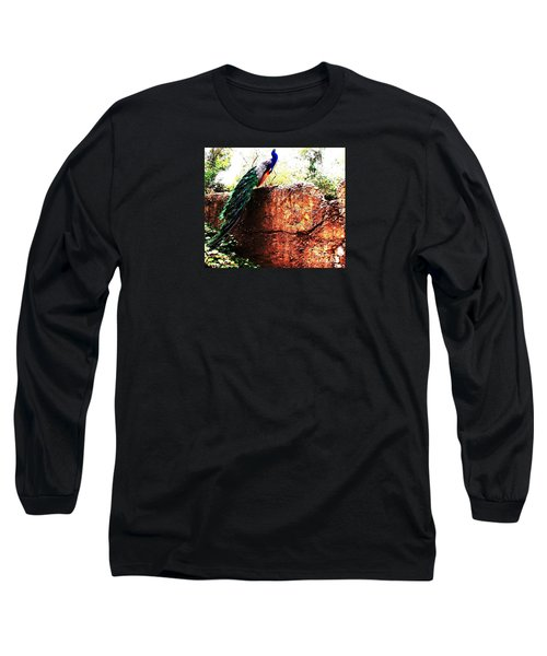 Long Sleeve T-Shirt featuring the photograph Pavoreal by Vanessa Palomino
