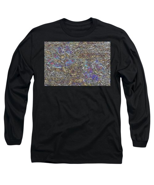 Paw Prints Like Butterflies Fragmented Long Sleeve T-Shirt