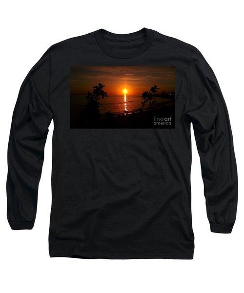 Peace At The Beach Long Sleeve T-Shirt by Chris Tarpening